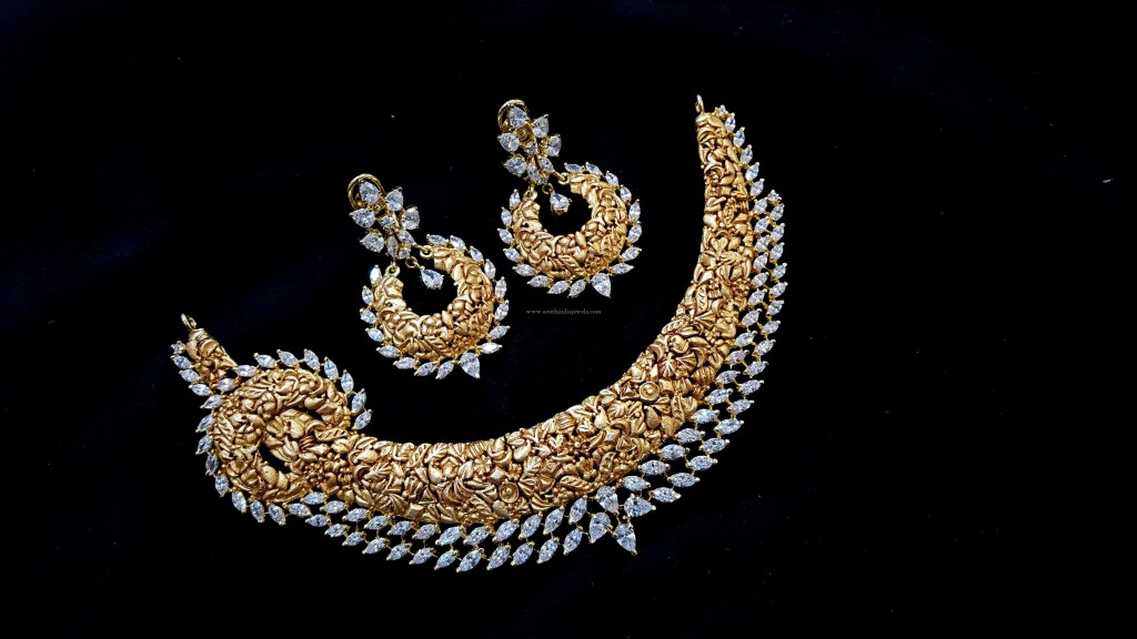 Designer Choker Necklace set with Earrings