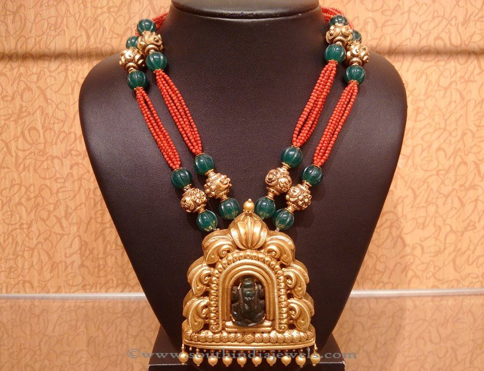 Designer Gold Temple Necklace from NAJ