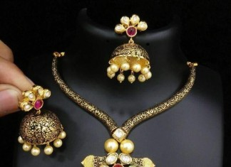 Designer Necklace with Jhumka