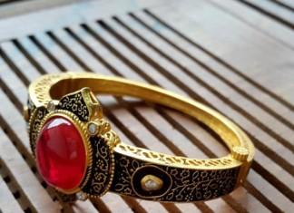 Designer Ruby Kada Bangle From Aatman Jewellers