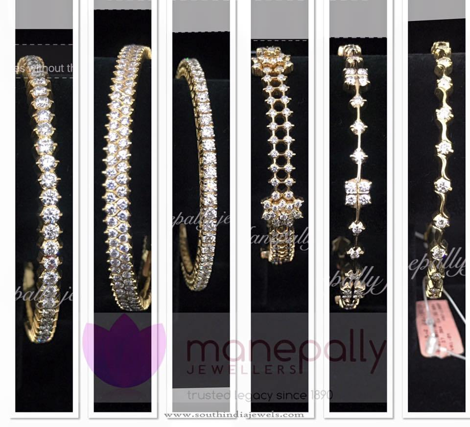 Latest Diamond Bangle Designs 2016