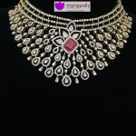 Diamond Choker Necklace From Manepally Jewellers