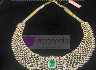 Designer Diamond Necklace from Manepally Jewellery