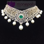 Diamond Emerald Choker Necklace from Manepally Jewellery