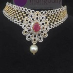 Designer Diamond Necklace from Manepally