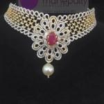 Designer Diamond Necklace from Manepally