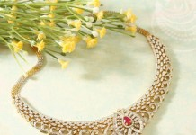 Classic Diamond Ruby Necklace from Manubhai