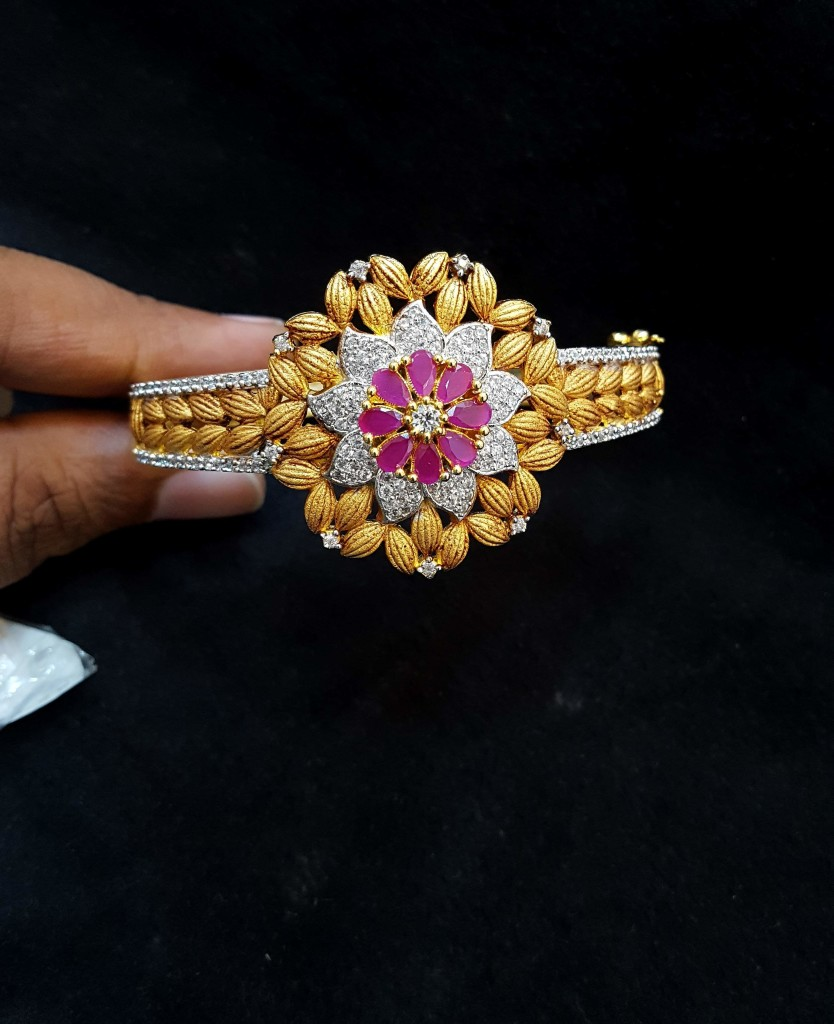 Flroal Bracelet Design From Subham Pearls and Jewellery