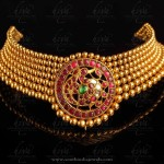 Gold Antique Ruby Choker from Hiya Jewellery