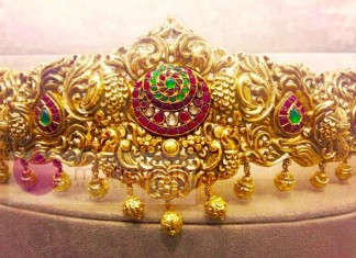 Gold Antique Vadanam from Manepally Jewellers
