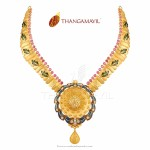 22k Gold Designer Necklace from Thangamayil Jewellery