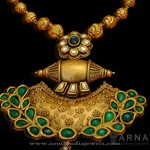 Antique Gold Emerald Pendant From Arnav