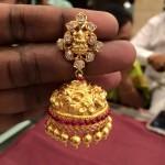 22K Gold Latest Temple Jhumka