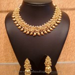 Gold Light Weight Mango Choker with Jhumka