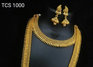 Gold Plated Bridal Set with Matching Jhumkas