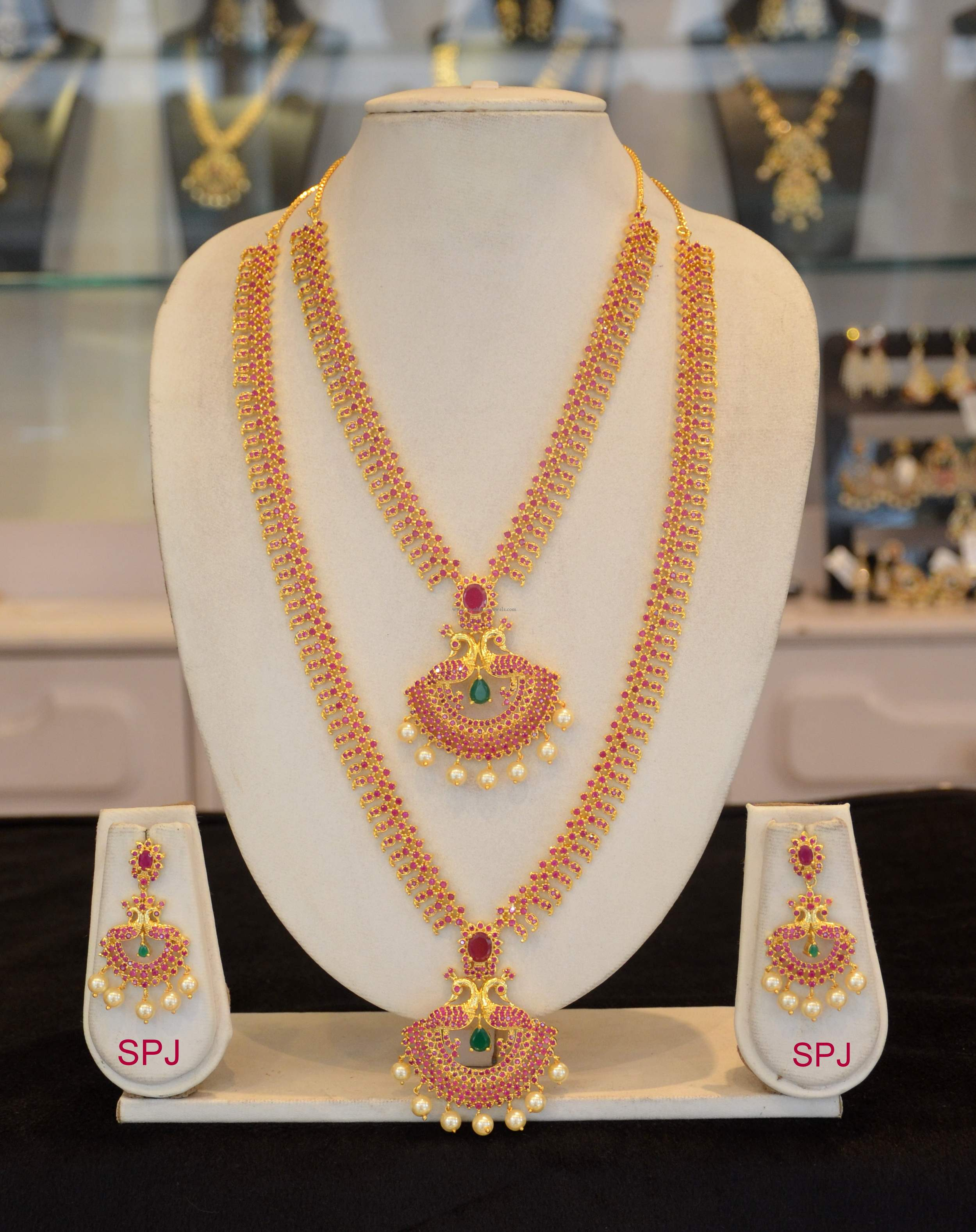jewel jewellery necklace earrings set ishine products earring