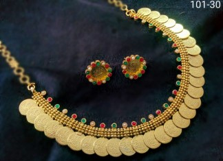 Gold Plated Coin Necklace from Temple Collections