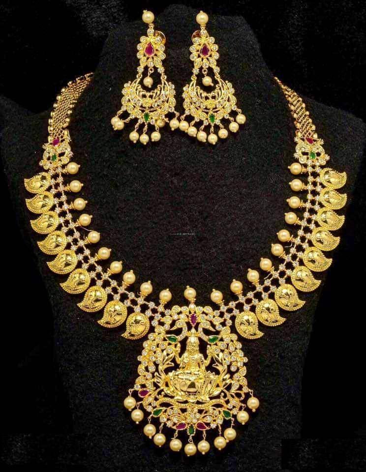 Imitation Gold Mango Temple Necklace