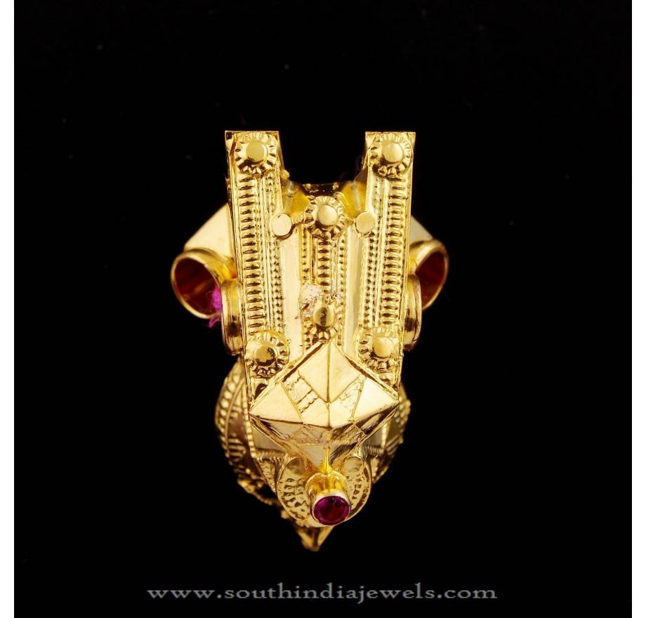 22k gold simple gold necklace design for inquiries please contact the - Mangalsutras South India Jewels Page 2