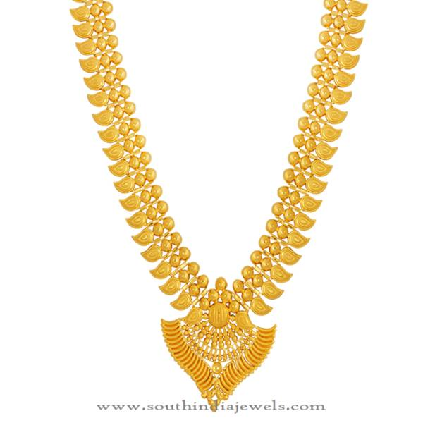 Kerala Gold Haram Design From Lalitha Jewellery South