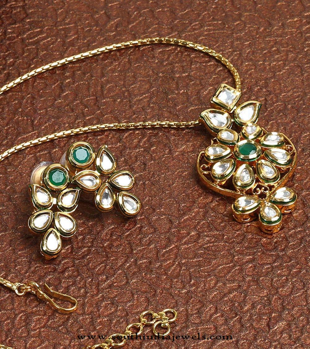 Imitation kundan pendant set and earrings south india jewels kundan pendant set and earrings aloadofball Images