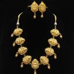 Short Lakshmi Temple Necklace Set