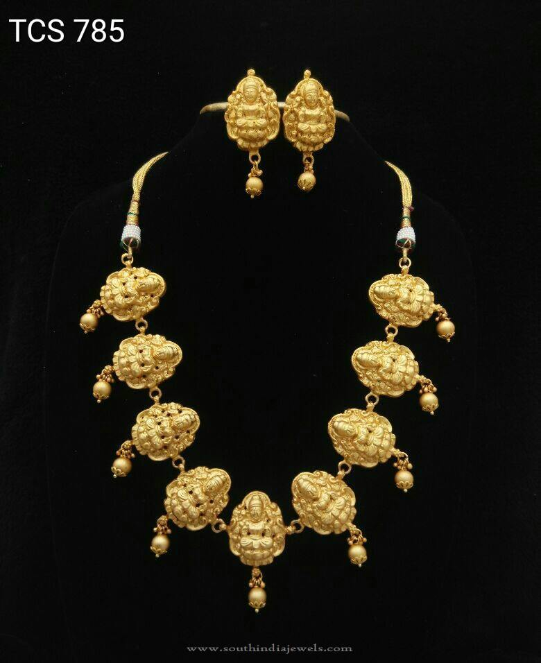 Short Lakshmi Temple Necklace Set