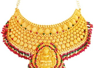 Lalithaa Jewellery Bridal Gold Necklace Design