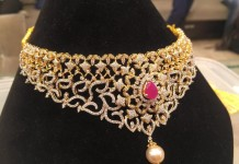 Latest Gold Diamond Choker from PSJ