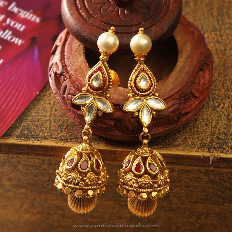 Latest Model Indian Jhumka from Manubhai Jewellers