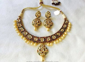 Imitation Necklace set with Pearls