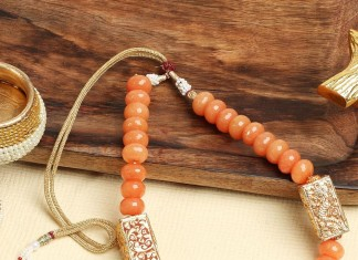 Orange Beaded Necklace