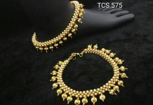 Pearl Anklet Design from Temple Collections