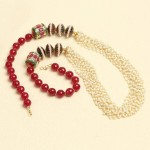 Multi layer Pearl Beaded Necklace