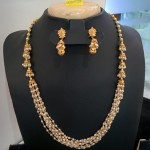 Multi-layer Pearl Necklace with Jhumka