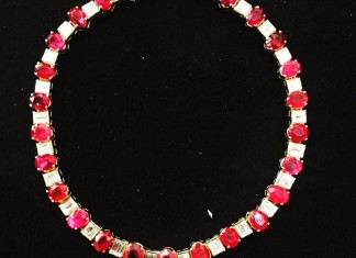 Diamond Ruby Necklace from Karni Jewellers