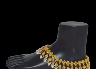1gm Gold Anklet Design with Price