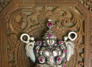 Antique Lakshmi Silver Pendant from Arnav