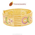 Big Bridal Gold Bangle From Thangamayil Jewellery