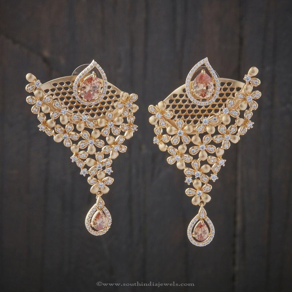 CZ Stone Earrings Design