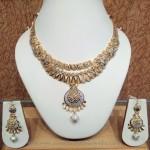 Designer White Rhodium Plated Gold Necklace