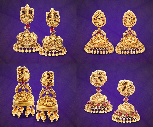 e073be0a2 GRT Jewellers Wedding Jhumka Collections ~ South India Jewels