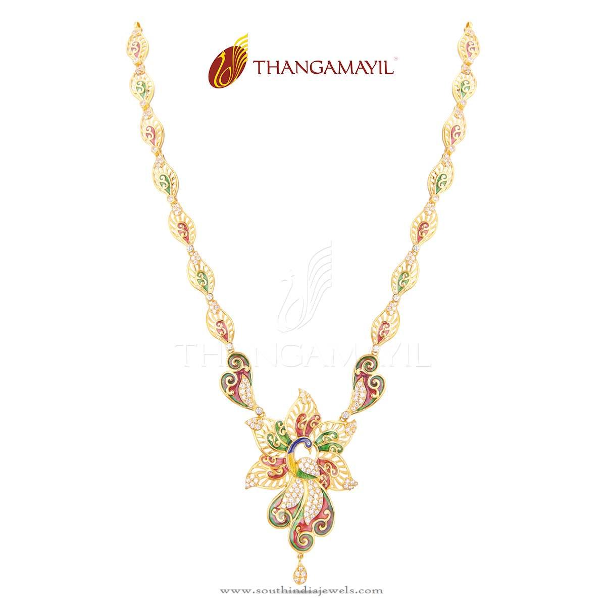 Gold Aaram Design South India Jewels