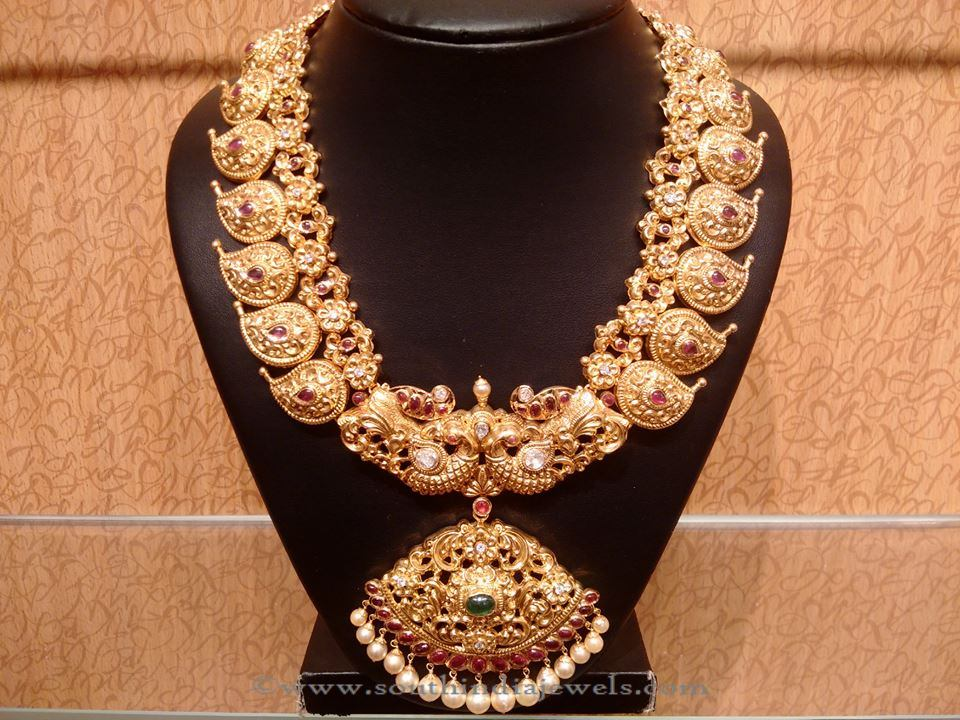 Gold Bridal Mango Long Necklace from NAJ