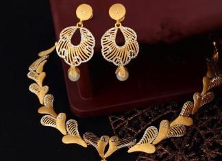 Gold Designer Necklace Set from Josalukkas