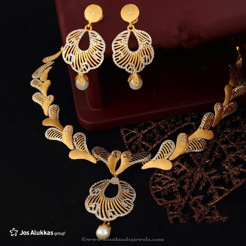 Gold Designer Necklace Set from Josalukkas