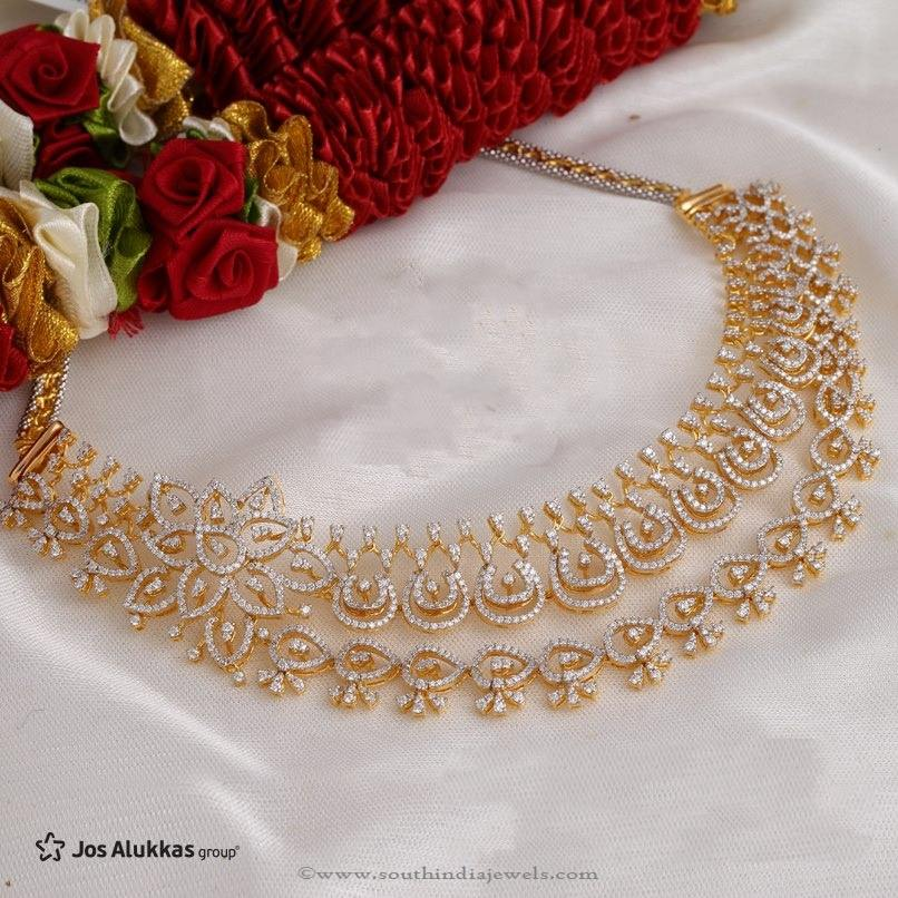 Gold Diamond Necklace Design from Jos Alukkas ~ South India Jewels