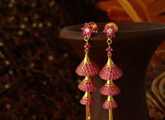 Gold Jhumka Designs from Josalukkas