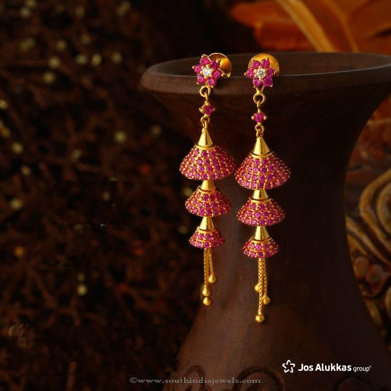 Gold Jhumka Designs from Josalukkas