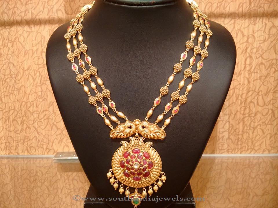 Gold Nakshi Work Aaram from Naj